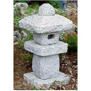 Rustic Granite Lantern, Rustic Stone Lanterns, Rustic Garden Lantern | Japanese Style, Inc.