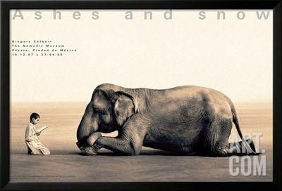 Boy Reading to Elephant, Mexico City Framed Art Print by Gregory Colbert at Art.com