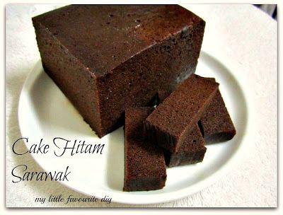 my little favourite DIY: A Sarawak Cake ~ Cake Hitam    ( 砂劳越的蛋糕 ~ 黑美人蛋糕)