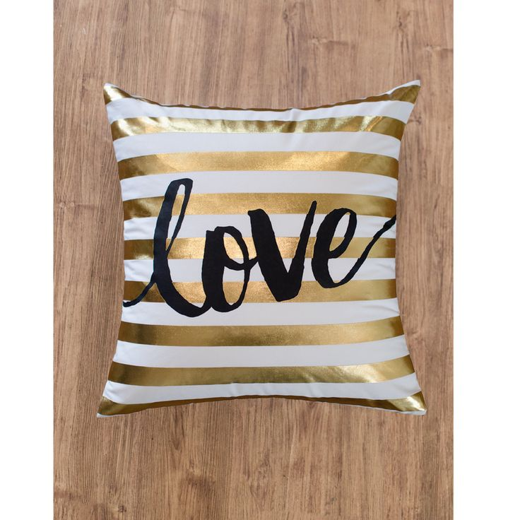 Gold Stripe Decorative Pillow : 25+ best ideas about Gold stripes on Pinterest Gold striped wallpaper, Palm and Palm background