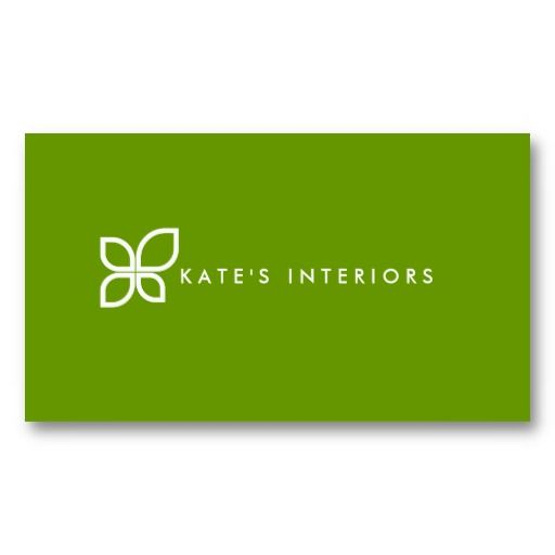Modern Floral Logo - Customizable business card for interior designers