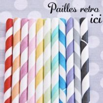 Pailles retro - BABY POP'S PARTY ! Baby Shower France