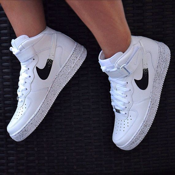 Custom nike air force 1 Oreo AF1 by UnleashedKustoms on Etsy