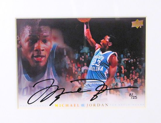 Michael Jordan UNC Limited Edition Framed Autographed 5x7 Collection - 11 Autographs! (UDA) | DA Card World