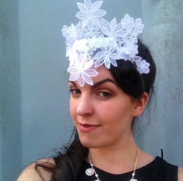 Emily O'Regan Millinery lace crown
