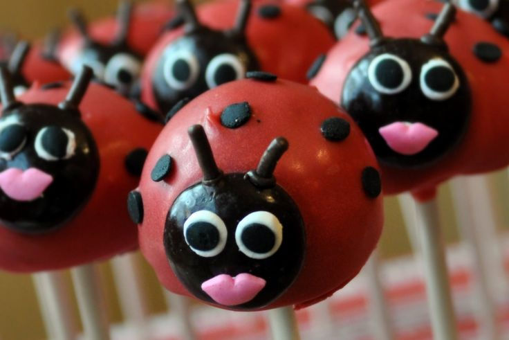 Ladybug pretzels, cake pops and other party ideas. Description from pinterest.com. I searched for this on bing.com/images