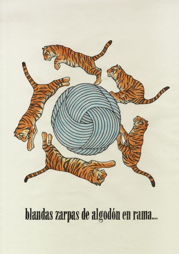 """""""Blandas zarpas de algodón en rama…"""" (""""El tigre de Guadarrama"""", de Vainica Doble)"""