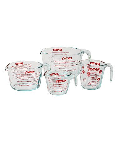 Love this Four-Piece Measuring Cup Set on #zulily! #zulilyfinds