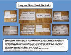 Vowel flip books