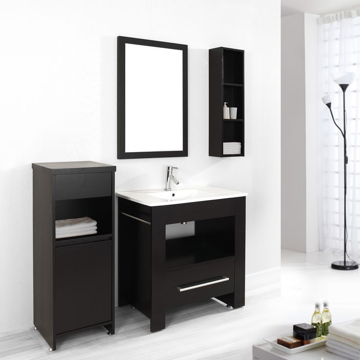 Art Exhibition Bathroom Simple Way to Keep Your Bathroom Cabinets Neat in the Inside Bathroom Cabinet In Dark Color With Single Sink Vanity Multiple Drawer For Many