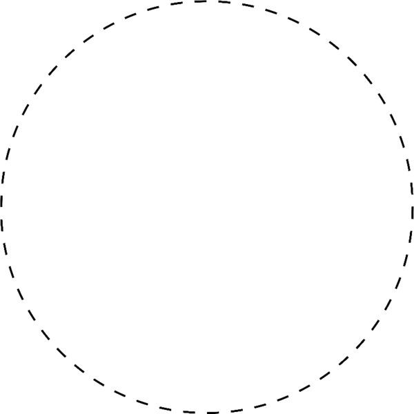 Dotted Circle Border on Dashed Line Border