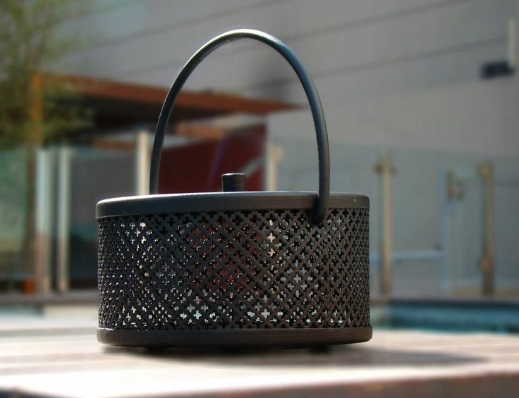 cast iron mosquito coil holder/incense burner with handle