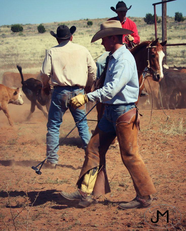 Texas Cowboy Branding Tongue River Ranch Cowboy