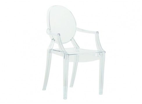 $130.00 Clear Acrylic Ghost Arm Chair
