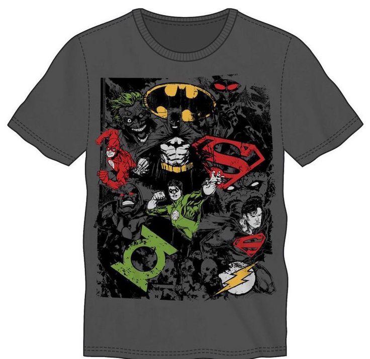 DC Comics Shirt Grey