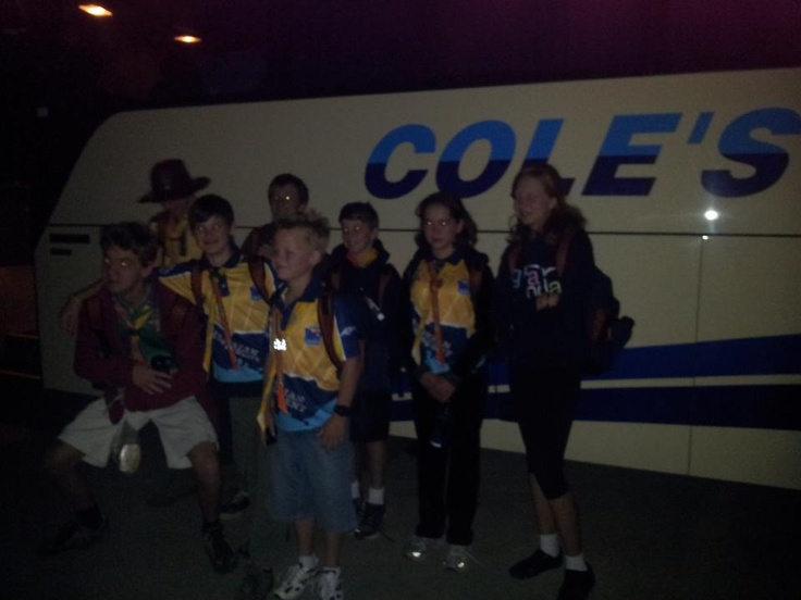 Some of troop D42 leaving at 5.15am New Years Day.
