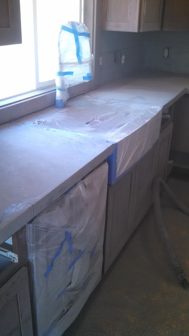 Best 25+ Concrete countertops over laminate ideas that you will ...