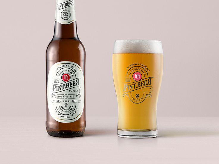 Free Amber Psd Beer Bottle Mockup by Pixeden #Design Popular #Dribbble #shots