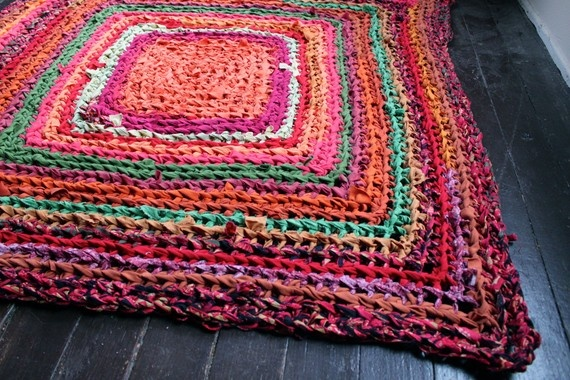 how to make hand crocheted rugs
