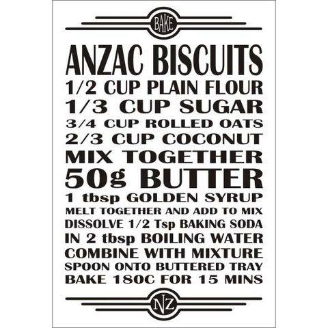 Recipe Magnet - Anzac Biscuits
