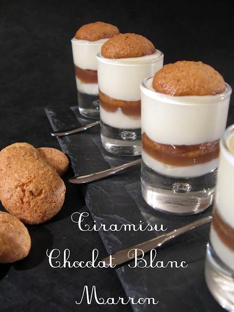 J'en reprendrai bien un bout...: Tiramisu Chocolat Blanc - Marron