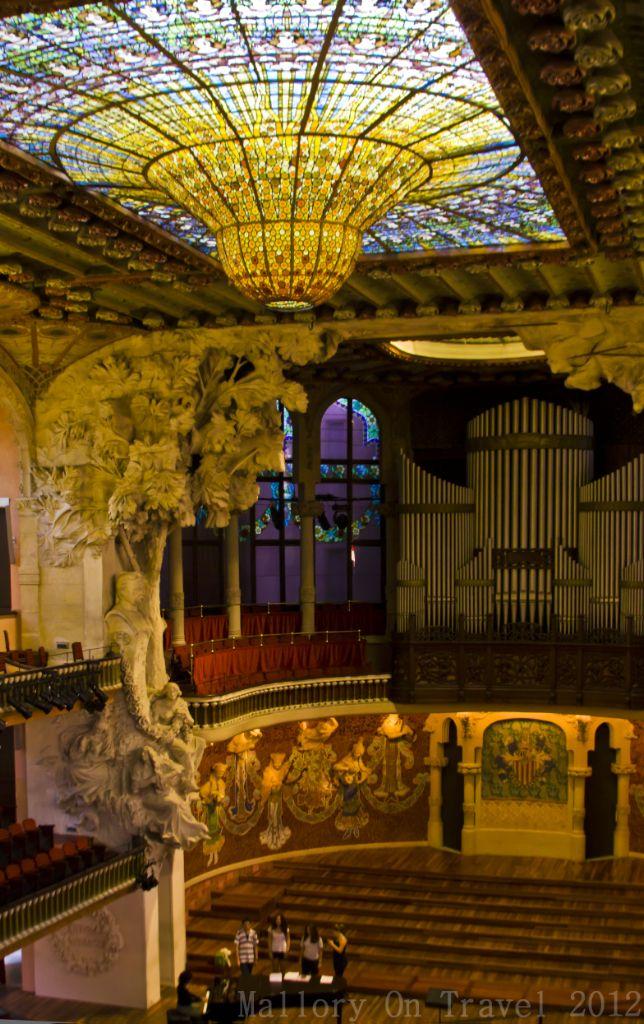 Palau de la Musica Catalana Barcelona, Spain | practice inside the Palau de la Música Catalana, Barcelona, Spain ...