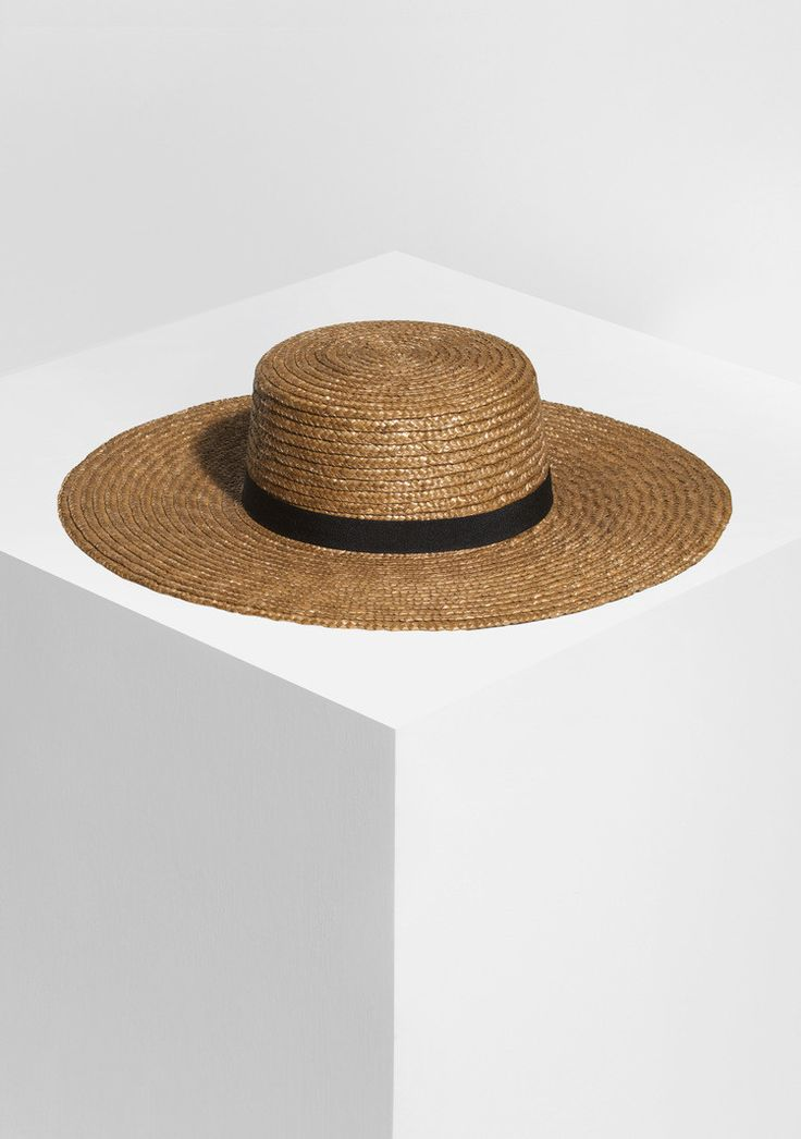 66 the label - Farrah Wide Brim Straw Boater In Tobacco