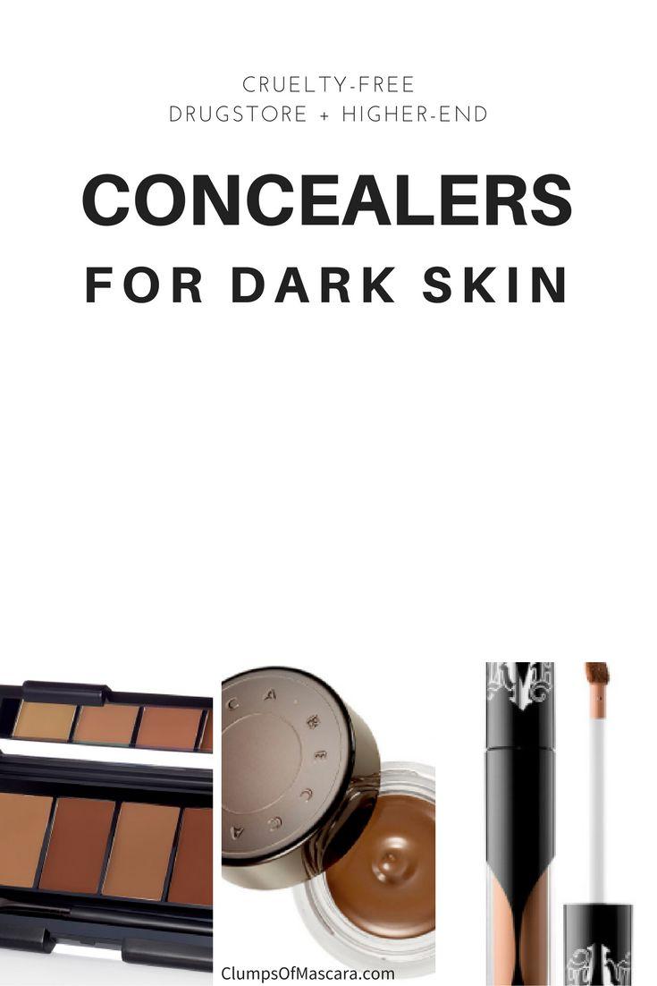 Best Concealers for Dark Skin http://www.clumpsofmascara.com/2016/12/best-concealers-for-dark-skin.html #MakeupCafe