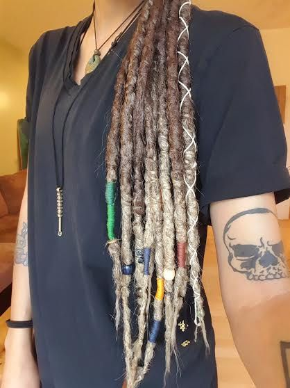 10 Natural Looking Dread Accent Set Ombre by FawnaWolfe on Etsy