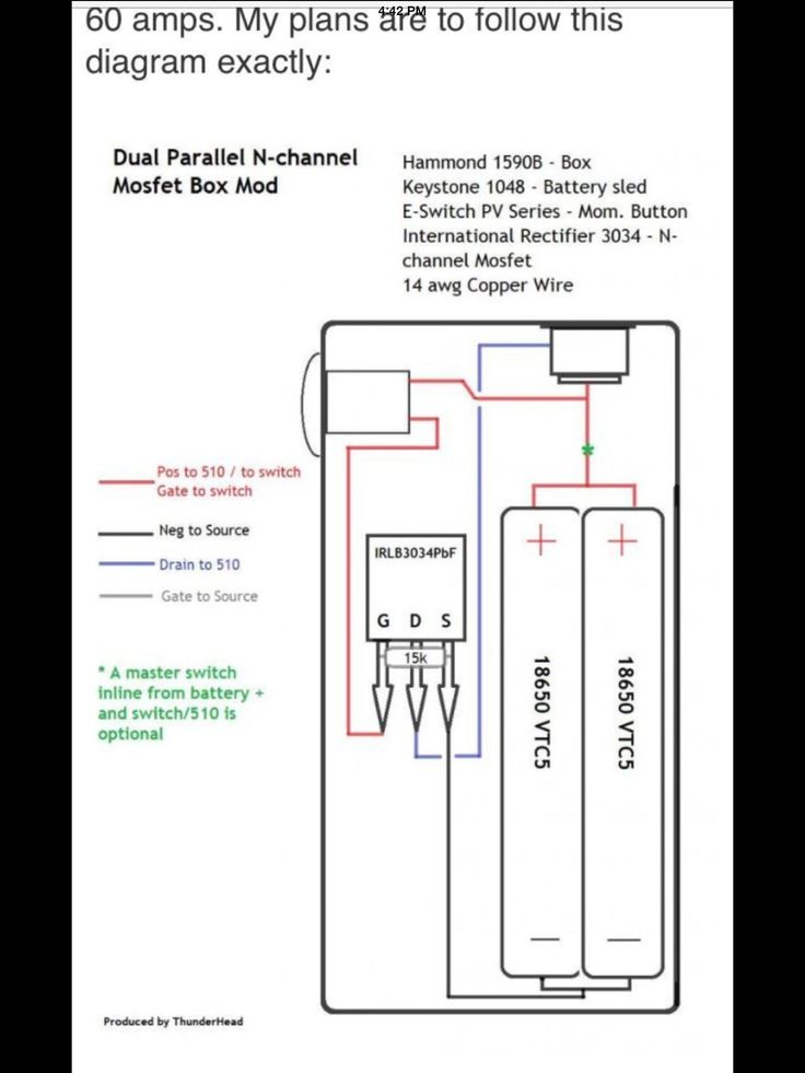 Dual Parallel MOSFET Box Mod    Diagram      Vape and Ecig