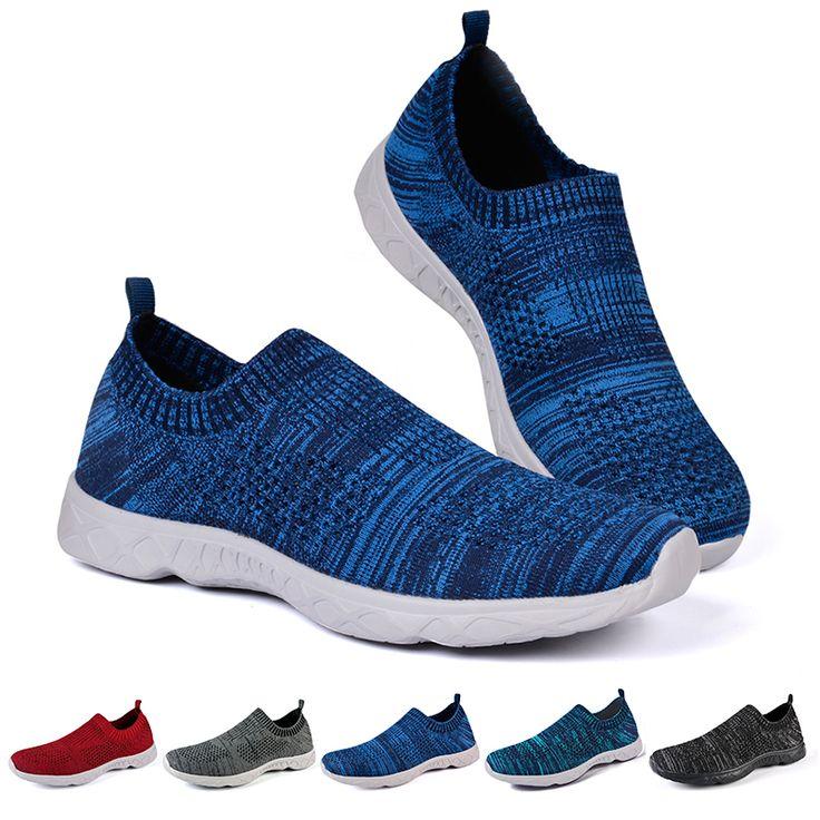Summer Go Walk Slip on Loafers Sports Running Shoes for Men Black