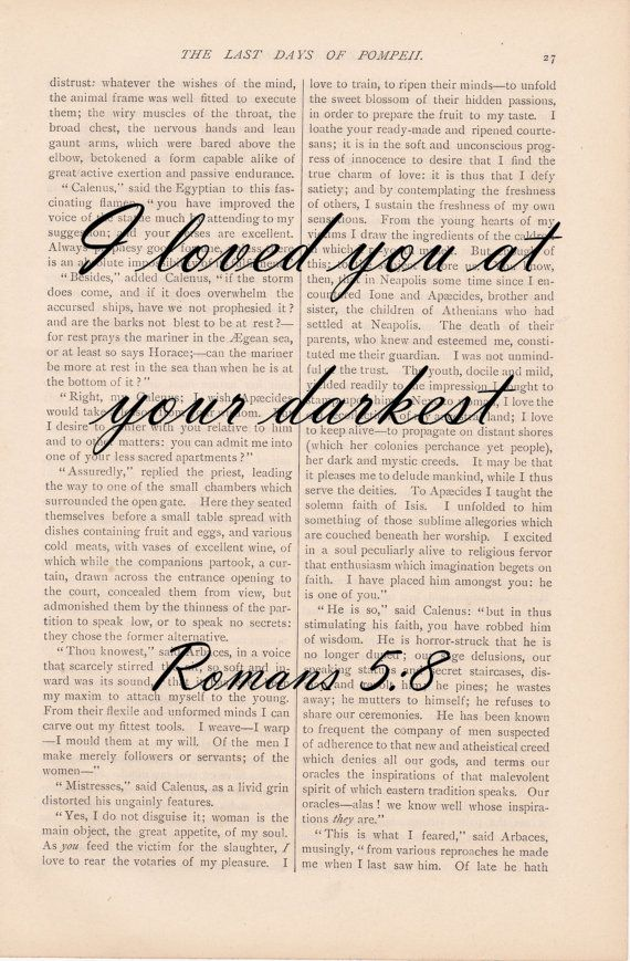 love quote bible verse I Loved You at Your by ExLibrisJournals, $9.00