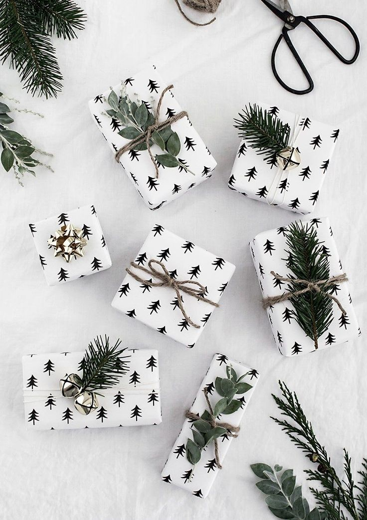 MINIMAL GIFT WRAPPING IDEAS + FREE PRINTABLE #giftwrapping