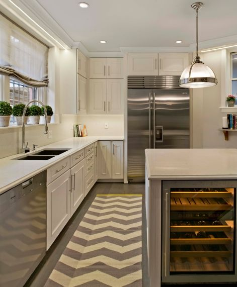Ivory White Kitchen Off White Quartz Gray Hardwood
