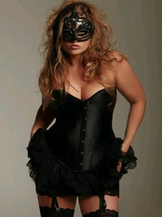 Masked bbw sensual