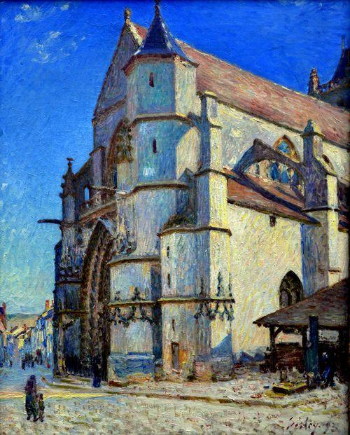 Alfred Sisley - L'eglise de Moret au soleil du matin, 1893 at Kunstmuseum Winterthur Switzerland (by mbell1975)