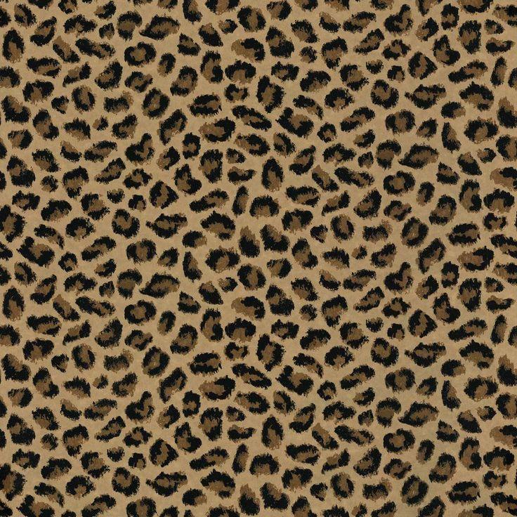 8 in. x 10 in. Brown Leopard Print Wallpaper Sample, Browns/Tans
