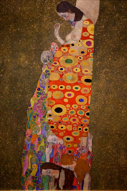Beautiful   saw it at MOMA Hope II (detail) by Gustav Klimt   MoMA, NYC