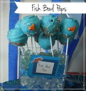 Fish Bowl Pops for sea themed kids party