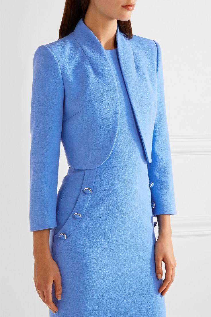 Michael Kors Collection   Cropped wool-blend crepe jacket   NET-A-PORTER.COM