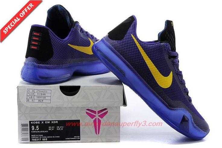 Nike Kobe X Kobe Bryant PURPLE GOLD Mens