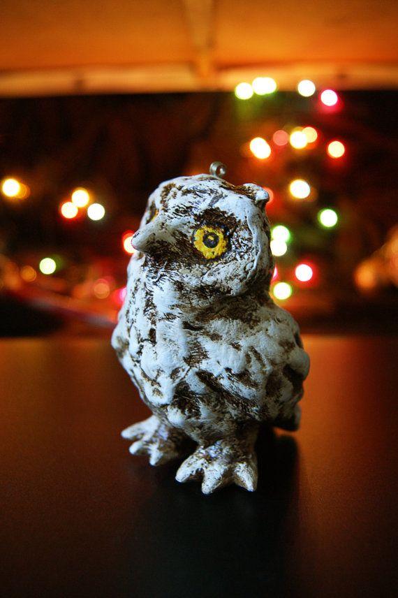 Christmas tree toy owlet home decor  Christmas by LoveBeadJewerly