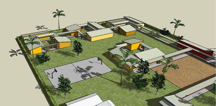 Masterplan design of the new school complex for the town of Kasongo, in the eastern D.R. Congo