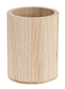 Stifteköcher Holz, rund (8 x 10 cm)