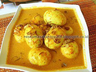 Gulai Telur Kuning Padang - #ResepMasakanIndonesia