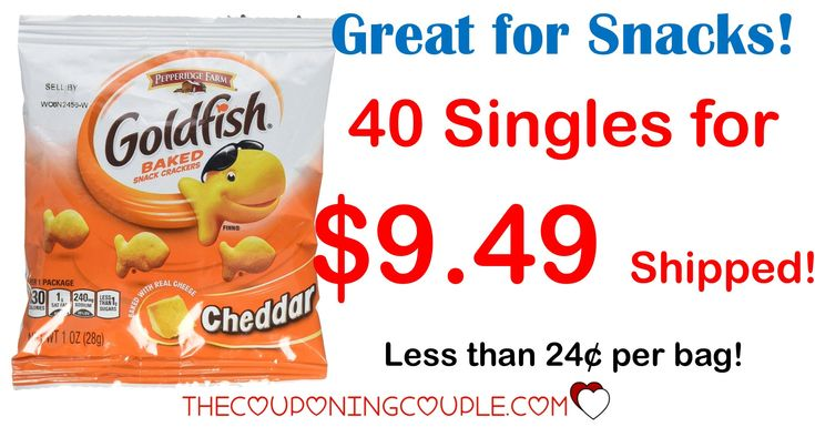 HOT BUY!! Get a Pepperidge Farm Goldfish Crackers 45 count for $0.24 per bag or less shipped! Stock up for lunches, snacks, on the go and more!  Click the link below to get all of the details ► http://www.thecouponingcouple.com/pepperidge-farm-goldfish-crackers-variety-pack-30-count-only-9-50-shipped/ #Coupons #Couponing #CouponCommunity  Visit us at http://www.thecouponingcouple.com for more great posts!