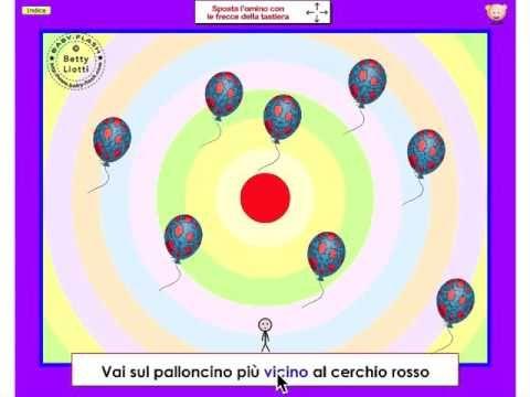 Esercizi vari24 (percezioni spaziali, vicino-lontano) - YouTube