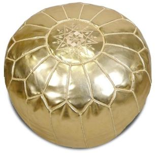 Moroccan Pouf In Gold