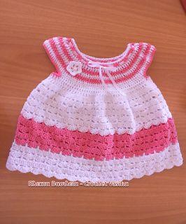 ΠΛΕΚΤΑ ΒΑΣΙΛΕΙΑ - CROCHET VASILIA : Ενα φορεμάτακι όμορφο σαν το κοριτσάκι που θα το ...