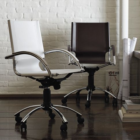 Office ChairsModern Home Offices, Westelm, Desks Chairs, Barbers Chairs, Home Offices Furniture, Modern Offices, Offices Chairs, West Elm, Swivel Desks